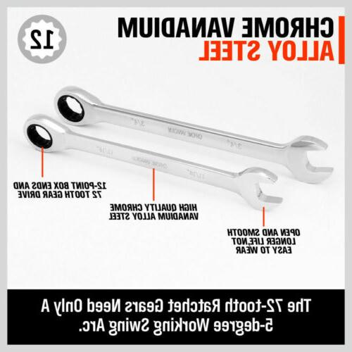 Ratcheting Wrench SAE Spanner Size