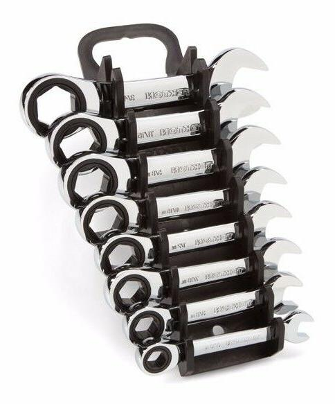 TEKTON 5/16-3/4 in. Stubby Ratcheting Combination Wrench Set