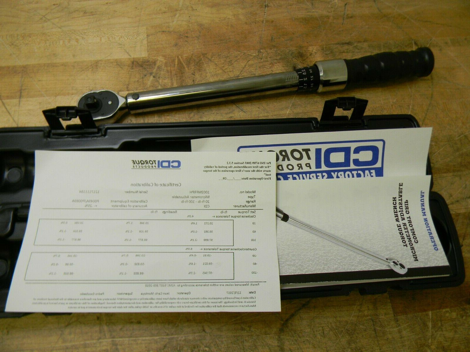 Click Type Adjustable Torque Wrench 10 ft/lb