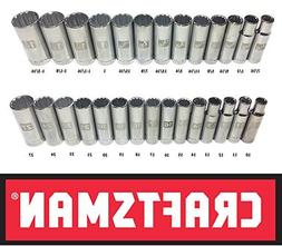 Craftsman Laser Etched Easy Read 28 Piece SAE & Metric 1/2""