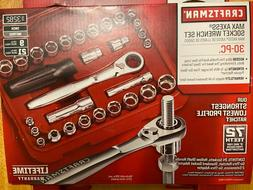 Craftsman 30pc Max Axess 1/4 & 3/8-in. Drive Socket Wrench S
