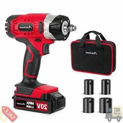 """20V MAX Cordless Impact Wrench with 1/2"""" Chuck, Max Torque"""