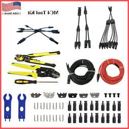 MC4 Solar Panel Connector Extension Cable Crimping Stripping
