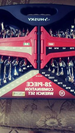 New! Husky 28-Piece Combination Wrench Set