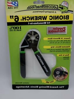 "New LoggerHead Tools 6"" Bionic Wrench Adjustable Grip 14 Siz"