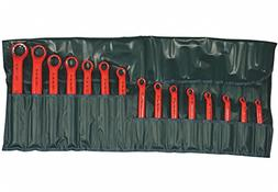 Ratcheting Box End Wrench Set, Metric, Number of Pieces: 15,