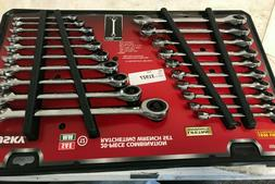 SAE/Metric Combination Ratcheting Wrench Set