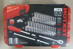 Socket Wrench Set 1/4 Inch Drive Tool Set 55 Pc. In. Metric