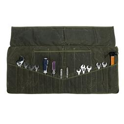 TUYU Wrench Roll Pouch 26 Pocket Tool Roll-Up Pouch, 12Oz. W
